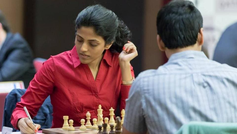 Harika Dronavalli faced heart-break in the semi-final of the World Chess championship in Tehran as she ran out of time in the Armageddon tie-break to lose to China's Tan Zhongyi