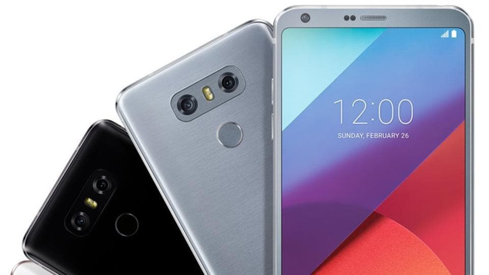 The picture shows the new G6 smartphone that comes with the Qualcomm Snapdragon 821 processor.