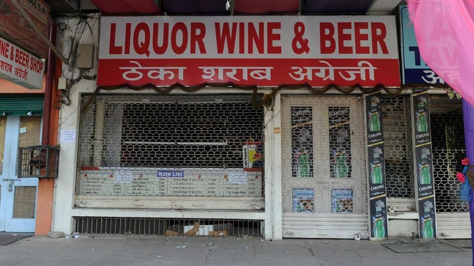 A liquor shop in Sector 17.