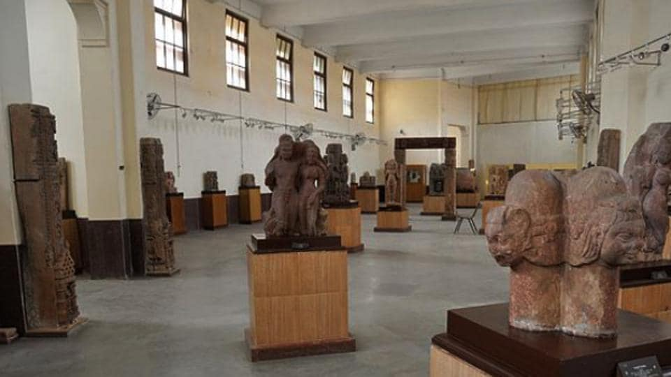 A view of some of the artefacts on display at Allahabad Museum.