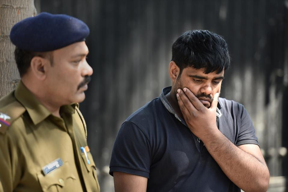 On Sunday, one of the accused, Amit, was produced in the court after his three-day remand period was over.
