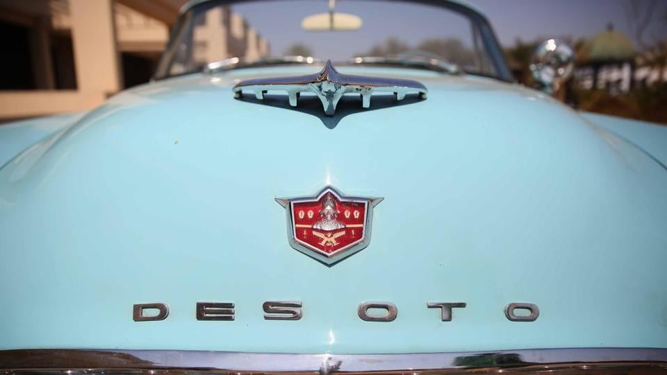 Car Mascot of Desoto. Jaipur  has  almost 300 vintage cars which had been used by tourists for a royal tour of the city. (Himanshu Vyas\ HT Photo)
