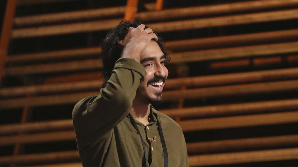 Dev Patel is seen during rehearsals for the 89th Academy Awards on Saturday. The Academy Awards will be held at the Dolby Theatre on Sunday. (AP)