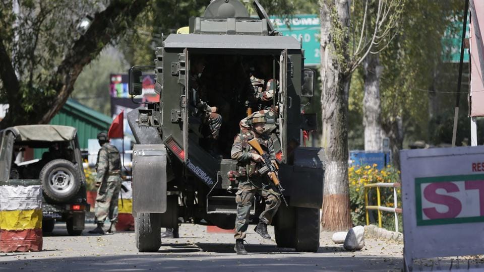 """Indian Army soldiers at the base in Uri. Two boys, who had strayed across the LoC, had initially """"confessed to their crime"""" on the fear of being beaten up in custody, but later revealed that they had no connection with the militants."""