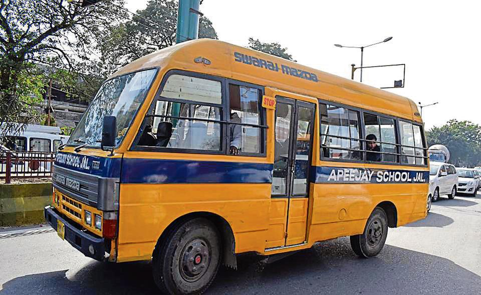 school buses,Jalandhar,Traffic rules
