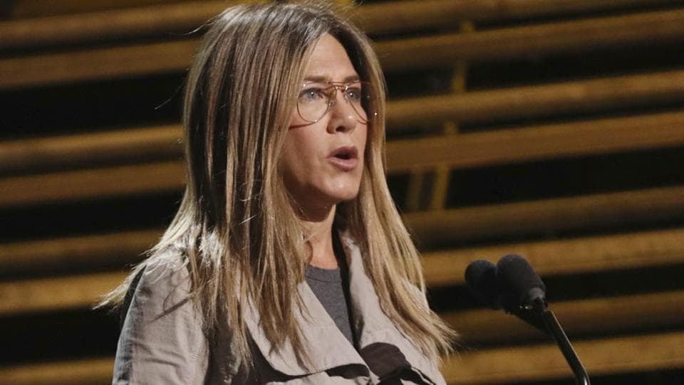 Jennifer Aniston is seen during rehearsals. (Matt Sayles/Invision/AP)