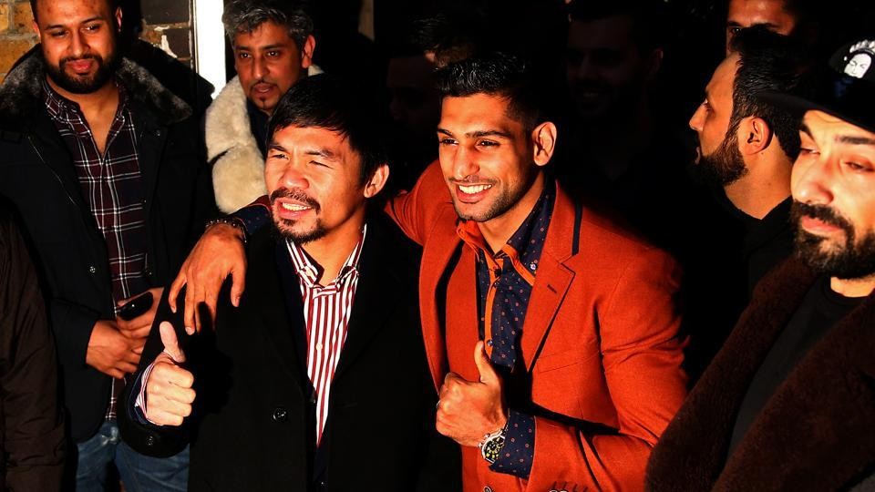 Manny Pacquiao will fight Amir Khan on April 23 but the venue is undecided.