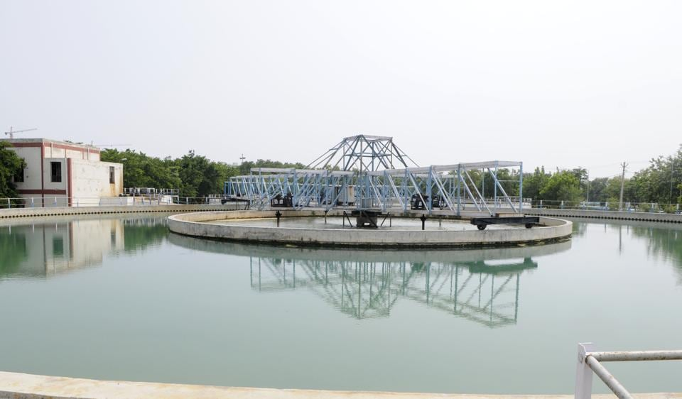 The Basai water treatment plant supplies 50 to 52 mega galons of water every day.