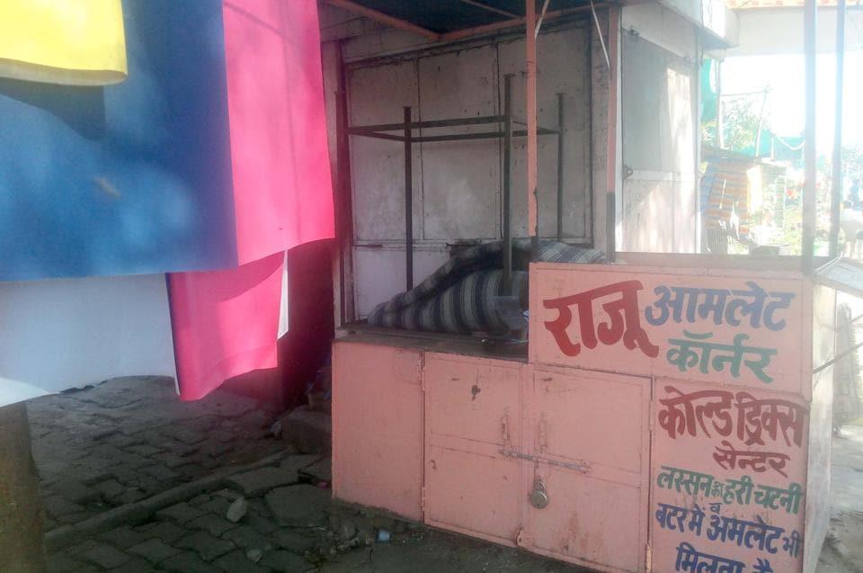 A vendor who sold eggs and omelette in Vidyadhar Nagar in Jaipur has shut his shop.