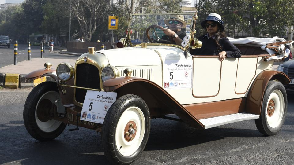 Participants were awarded for their dedication to maintain the cars, while some of them were felicitated for Most elegant Car, Best Overall Performance, The Restoration Trophyand the JMAI trophy after the car rally  on Sunday. (Sonu Mehta/HT PHOTO)
