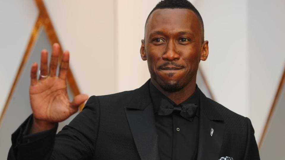Actor Mahershala Ali of Moonlight is seen on the red carpet as he arrives for the Oscar awards.