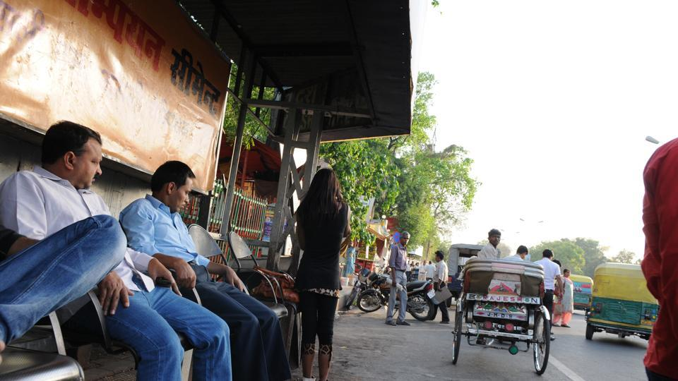 At present, most bus stops in city are not in good condition.