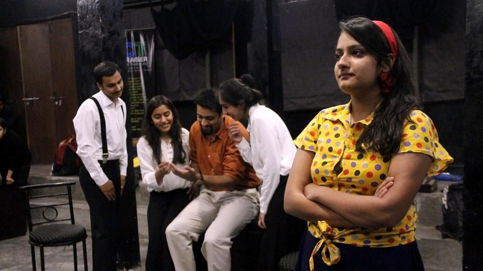 A scene from the play Learning to Drive by Verbum of Sri Venkateswara College.