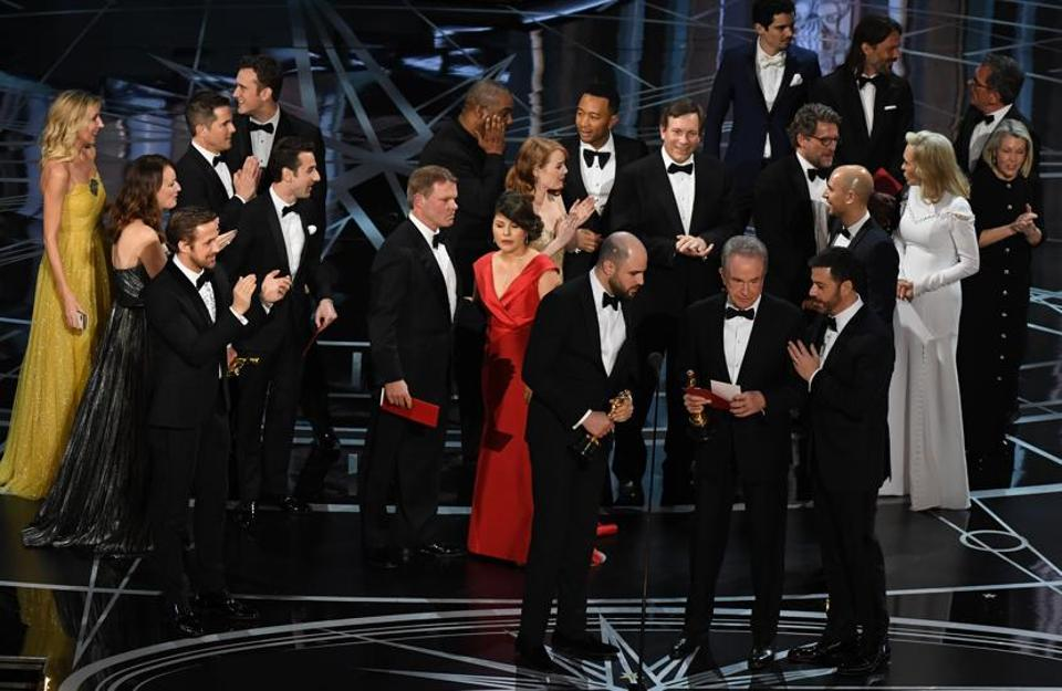 That moment of confusion at Oscars 2017 when La La Land mistakenly was announced as the Best Picture instead of Moonlight.