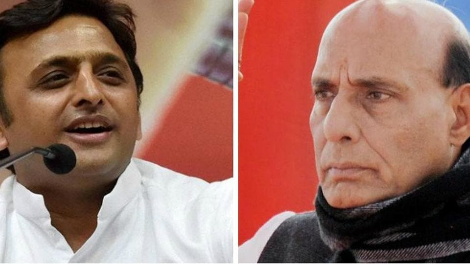 Home minister Rajnath Singh also criticised the ruling Samajwadi Party's 'kaam bolta hai' claim.