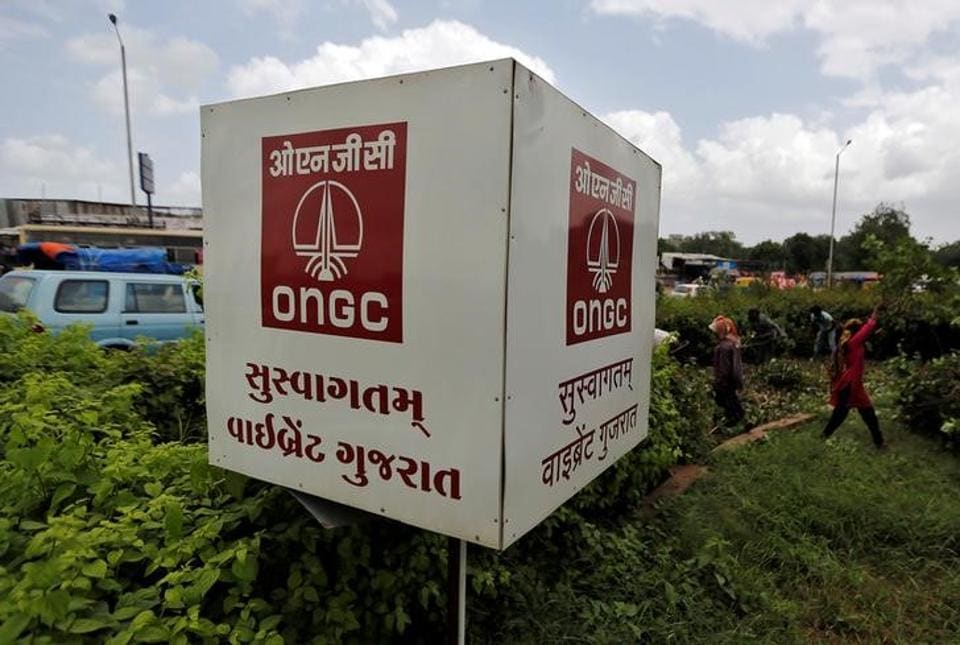 The logo of Oil and Natural Gas Corp's (ONGC) is pictured along a roadside in Ahmedabad, India, September 6, 2016.