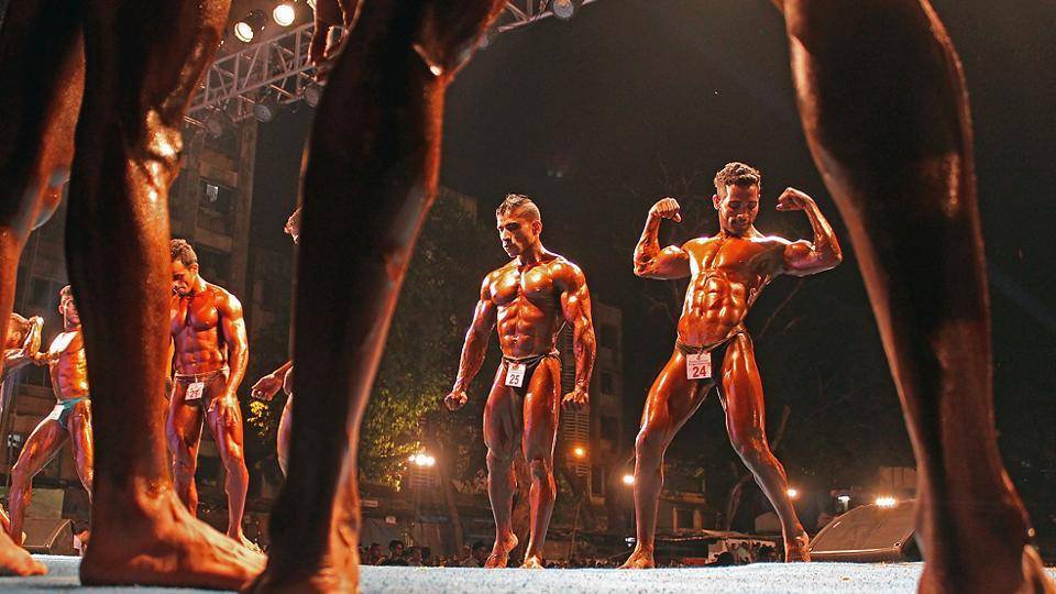 Did I get it right, the bodybuilder seems to be asking. (Satyabrata Tripathy/Ht photos)