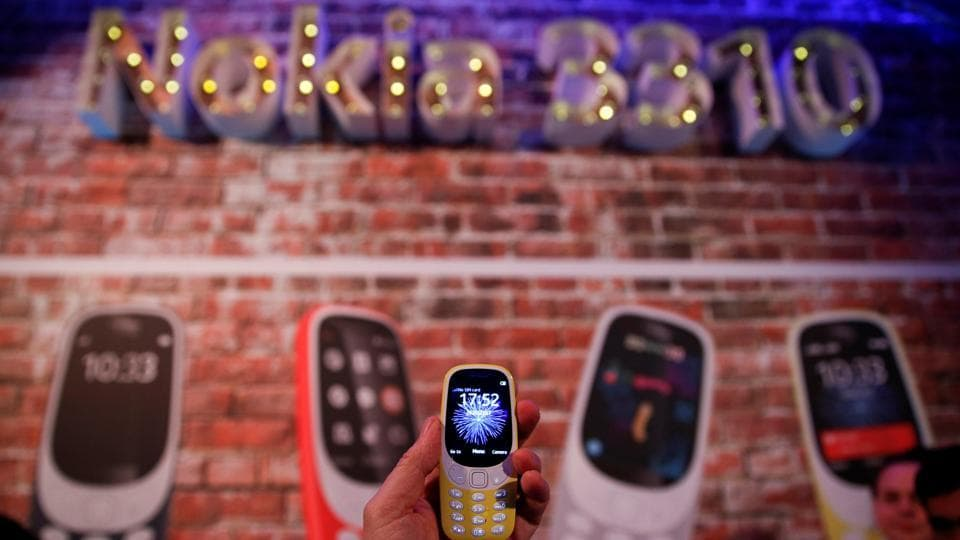 A Nokia 3310 device is displayed after its presentation ceremony at Mobile World Congress in Barcelona, Spain.