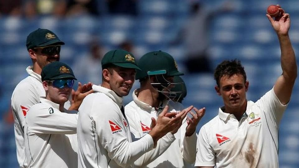 In the first Test in Pune, where the ball was turning from Day 1, it was not India cricket team spinners Ravichandran Ashwin or Ravindra Jadeja who took control. Steve O'Keefe (right), who took 12 wickets in the match, and Nathan Lyon tore through the Indian batting led by Virat Kohli.