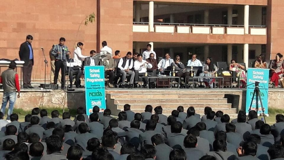 Officials said the move was to create awareness among students about natural calamities and prepare them to deal with emergencies. This was the 10th such drill held across the city.