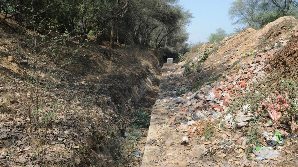 The Wazirabad and Chakkarpur project where the natural drain has been concreted.