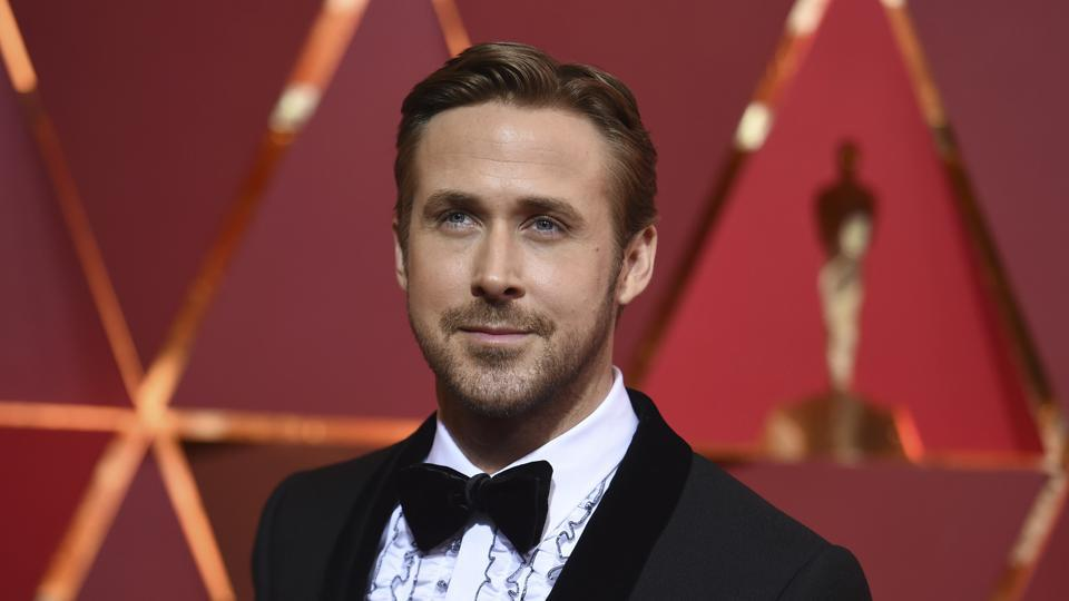 Ryan Gosling on the red carpet at the Oscars. (AP)