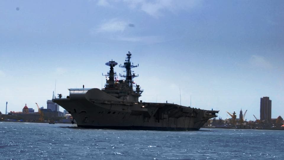 INS Viraat sailed under her own power for the last time from Mumbai to Kochi in July 2016.