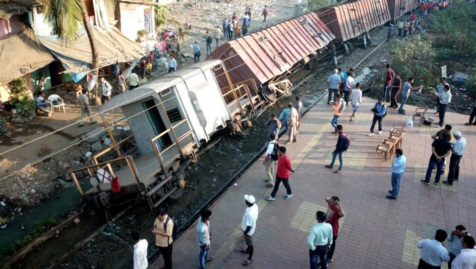 Harbour line services on Central Railway were hit after three wagons and brake van of a goods train derailed between Ravli and Kurla early morning in Mumbai.
