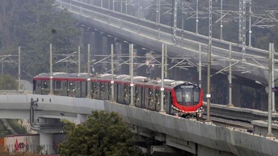 Lucknow Metro trail run was flagged off by chief minister Akhilesh Yadav in December last year.