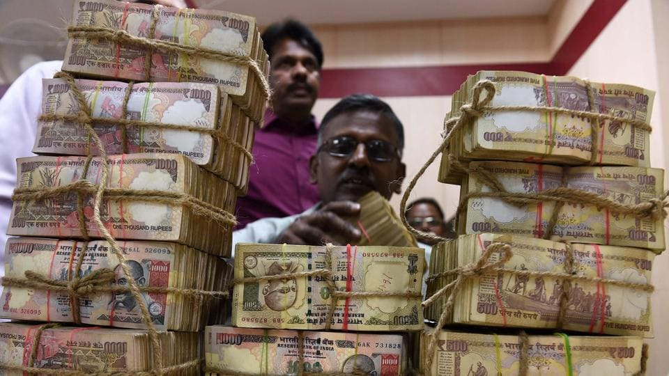 Demonetised Rs 1000 notes.
