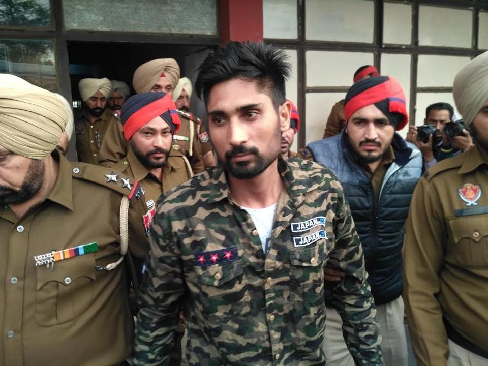 Babli Randhawa being taken out of the Sangrur court on Tuesday.