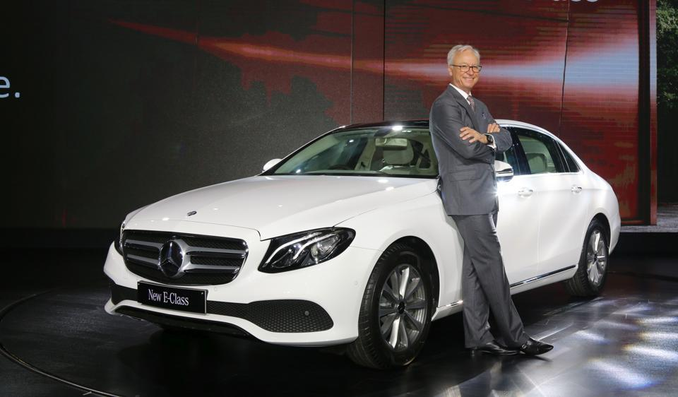 Mercedes-Benz India MD and CEO Roland Folger at the launch of the long-wheelbase E-Class in India on Tuesday.