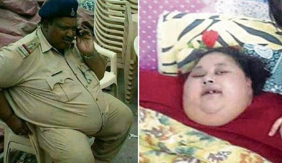 Inspector Daulatram Jogawat and Egyptian Eman Ahmed are undergoing treatment at Mumbai's Saifee Hospital.