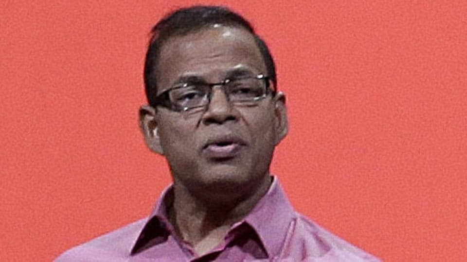 In this file photo, Amit Singhal speaks at Google I/O 2013 in San Francisco.