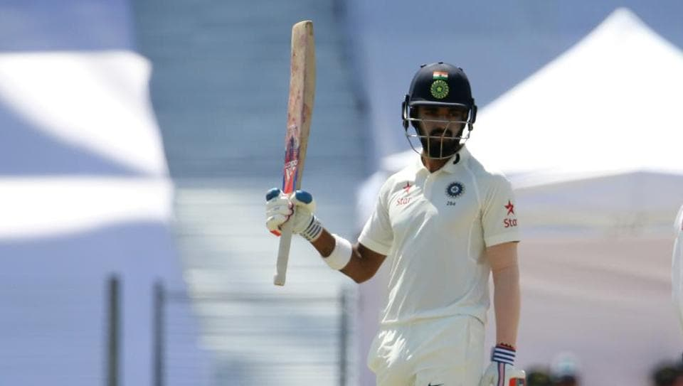KL Rahul scored 64 and 10 in the two innings of the first Test between India and Australia in Pune.