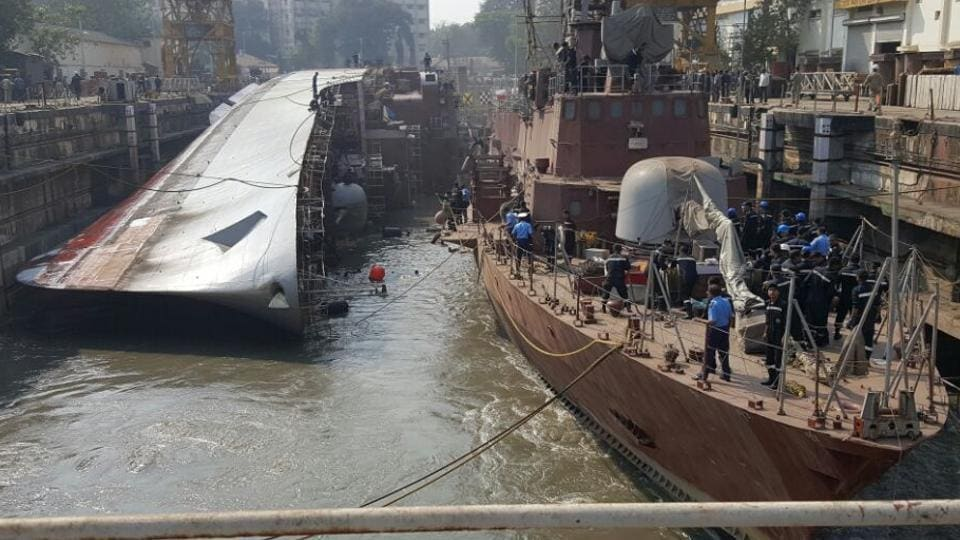 INS Betwa tipped over on December 5.