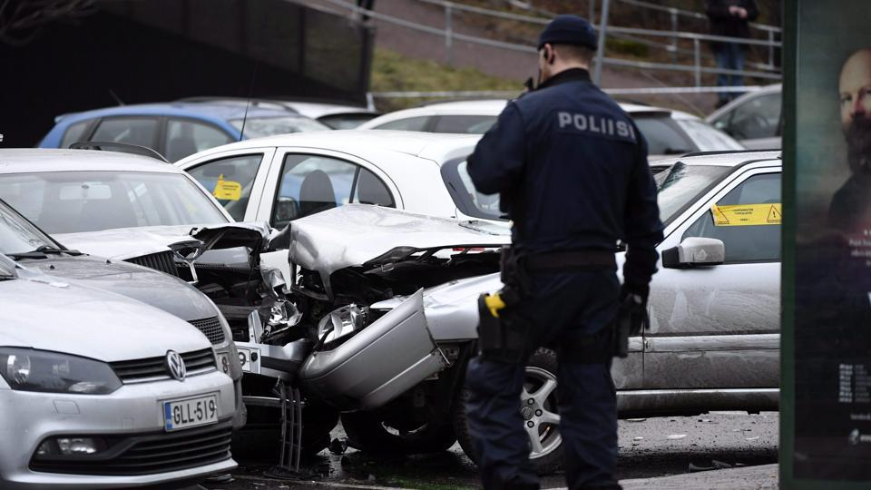 A man in Germany allegedly murdered his grandmother and later ran over two police officers during an attempt to flee.