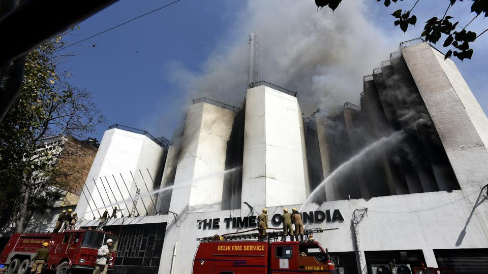 Times of India,TOI fire,TOI building gutted