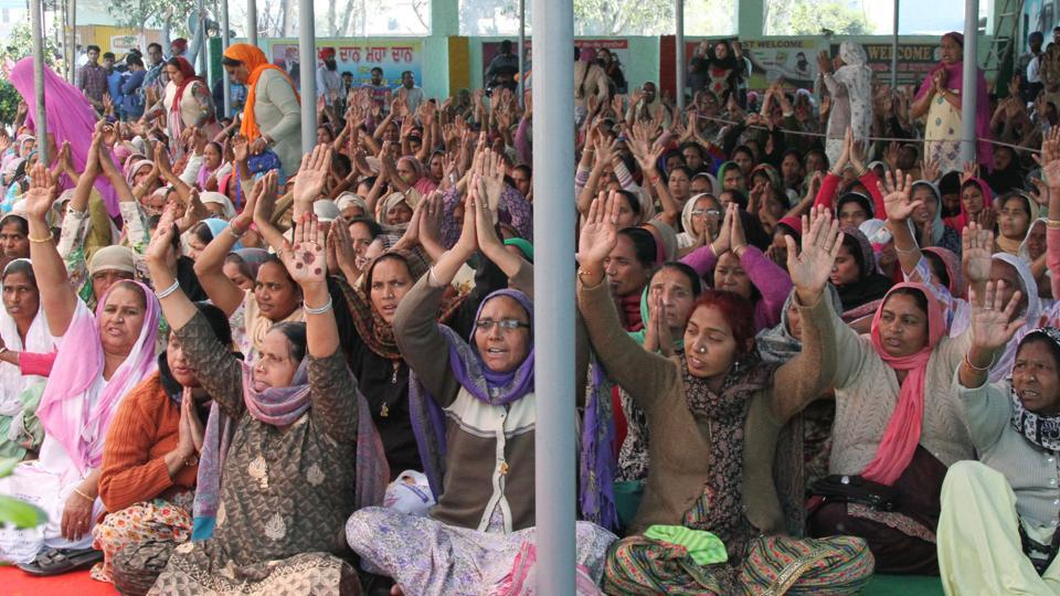 A large part of the gathering of 'premis' (as the dera followers call themselves) were girls and women at Jagera village in Ludhiana on Monday.
