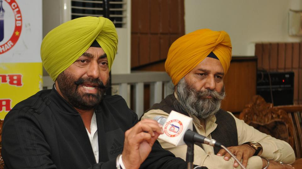 Aam Aadmi Party's chief spokesperson Sukhpal Khaira addressing media in Jalandhar on Tuesday.