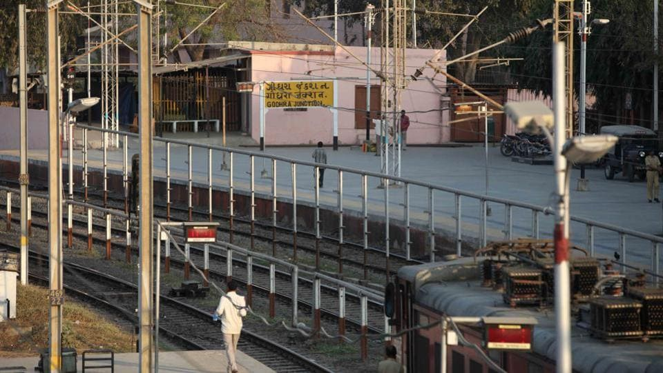 Godhra railway station were coaches  were burnt down killing 59 people on 27 February 2002. (Prasad Gori / HT FILE PHOTO)