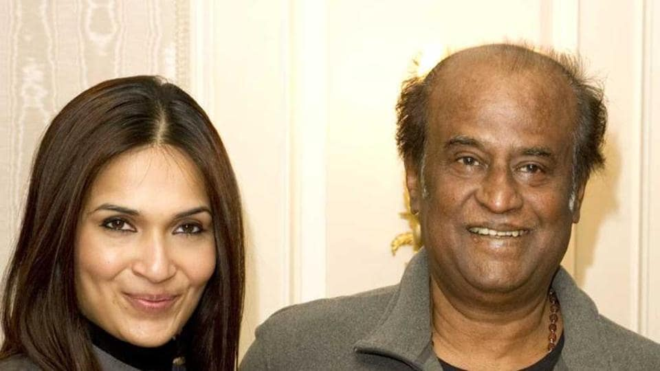 Rajinikanth's daughter Soundarya met with an accident in Chennai's Alwarpet area on Tuesday.