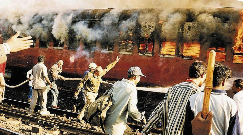 Sabarmati Express - Coach S-6 of the Sabamati Express train that killed 58 people subsequently leading into Gujarat riots in 2002 . On February 28, 15 years have passed since a gale of violence engulfed 20 out of the 25 districts of Gujarat.  (AP File Photo)