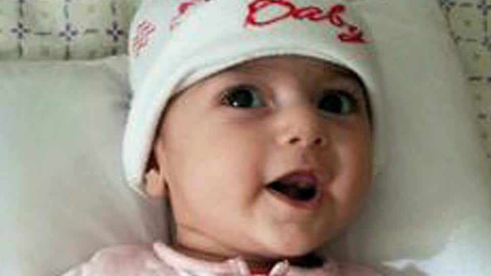 This undated photo shows Fatemeh Reshad, an infant from Iran, who was recently treated for a life-threatening heart condition at a hospital in Oregon. The 4-month-old infant was flown to Portland for her life-saving heart surgery after she was temporarily banned from coming into the U.S. by President Donald Trump's travel ban.