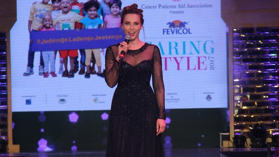 Iulia Vantur, who has been taking singing classes for a while now, also performed at the event which was hosted by Fevicol in aid of children suffering from blood cancer. (Pramod Thakur/HT Photo)