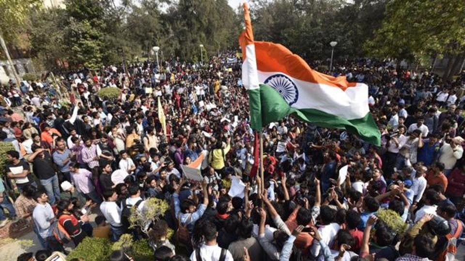 Protests against ABVP continue to rock Delhi University campus.
