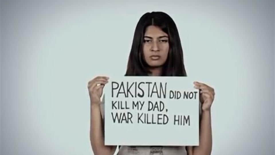 Daughter of Kashmir martyr Gurmehar Kaur.