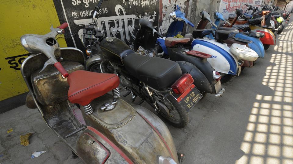 Vintage scooters,Vespas,Lambrettas