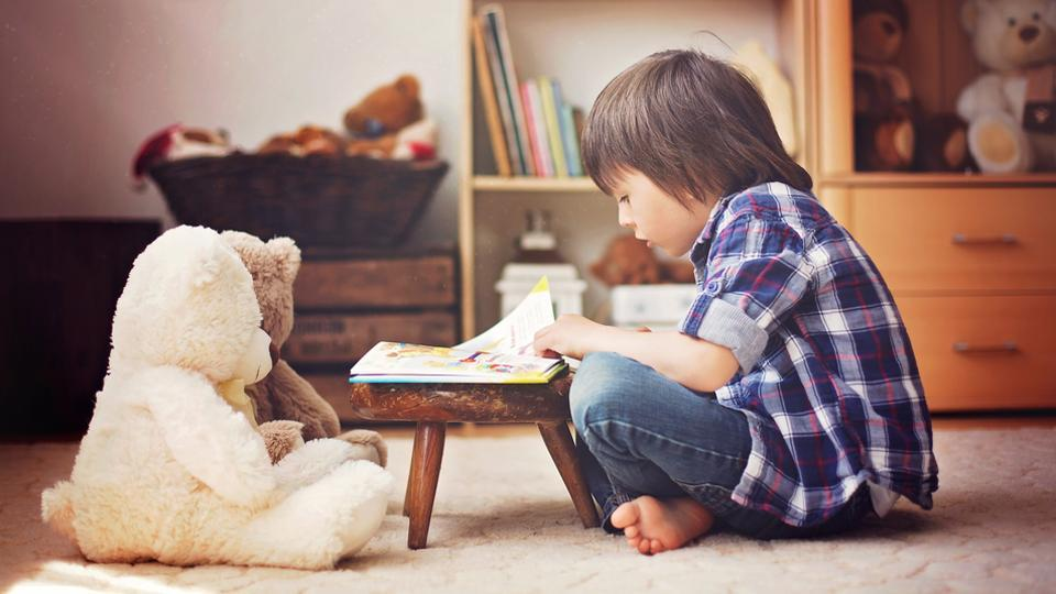 Reading is important for the development of children's language skills and imagination.