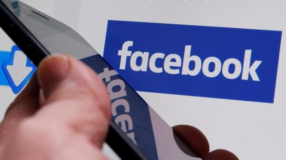 The Facebook logo is displayed on their website in an illustration photo taken in Bordeaux, France.